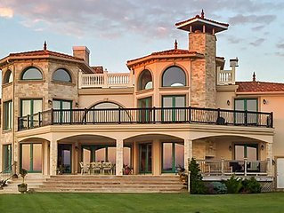 Hamptons Waterfront Mediterranean Home