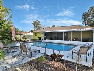 Dog-friendly, renovated home w/ outdoor pool, patio and screened lanai