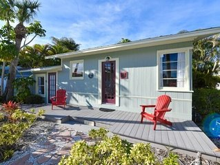 Restored 1920's Anna Maria Island Cottage .  1 block to the beach with no roads