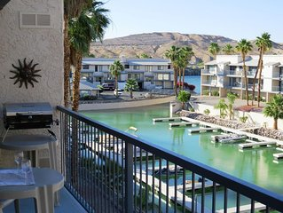 Riverfront Condo! - Marina/boat slips/pool/spa/river dock - 2Bed 2Bath