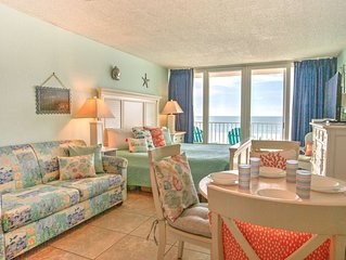 Affordable Beachfront Studio Condo with Private Balcony Facing the Gulf!