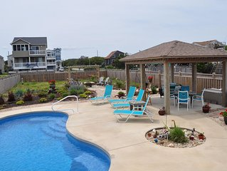Clean, Ocean View, Private Saltwater Pool, Direct beach access,  sleeps 12!