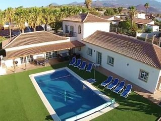 Luxury 5 bed villa with heated pool on private grounds and perfect location