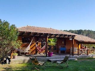 Location Belle maison en bois massif à Messanges