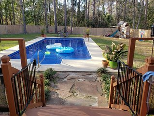 A family retreat with a private pool & hot tub minutes from Wrightsville Beach!