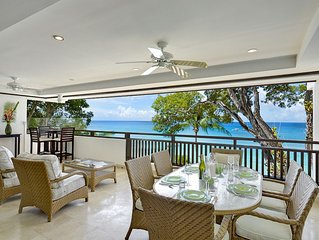 CORAL COVE 7 BARBADOS - LUXURY 3 BEDROOM BEACH FRONT CONDO ON PAYNES BAY BEACH