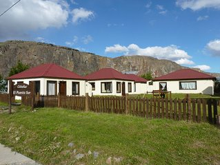 Cosy Bungalows among Stunning Patagonian Scnenery