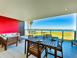 Modern Oceanfront Condo, Water Views, Steps to Beach + More