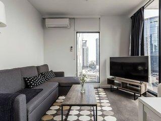 Sunny&Comfy 2BD Luxury City View/Free Netflix/Gym