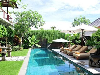 5 Bedroom Seminyak Relaxing Pool Villa, Housekeeping Staff, Stress free!