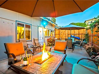 Cozy & Private,  Fire Chat Table, Patio Seating, short walk to the Beach