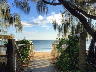 20 Steps to the Sand! - Beachfront Apartment! No Roads to Cross
