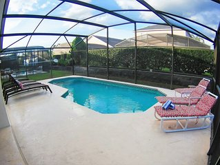 Spacious Home w/Private Pool °o° Disney Area - No Carpet!!!