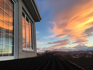 Spacious Canadian. Amazing panorama over Akureyri