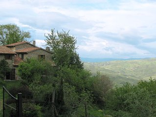 Restored farmhouse on the Tuscan hills