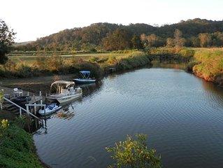 Adjacent Cottage & Cabin - river access, suit tinny, jetski, kayakers, pet.