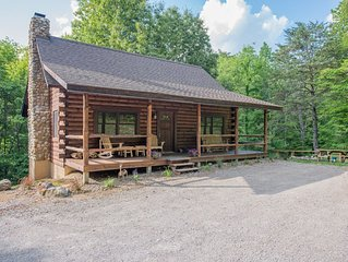 Great cabin with 30 private acres, pond, lower level 'saloon style' game room!