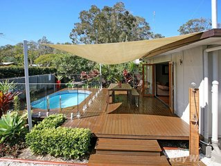 Private with pool and fully fenced