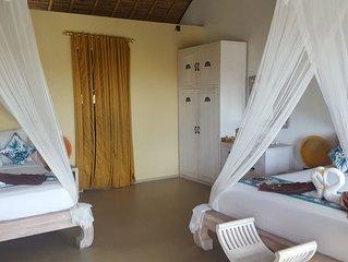 4* FAMILY SUITE 36m2 2 beds Tropical Pool Villa, 8min to Beach Canggu Seminyak