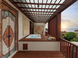 Jacuzzi Sea View Villa at Purnama beach
