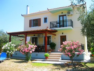 Christina house near Stafylos beach surrounded by green sceneries