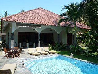 Large private villa with nice swimming pool in tropical garden