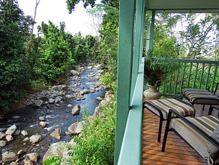 Quaint Hide-Away House Overlooking Picard River and Nestled Amongst the Trees
