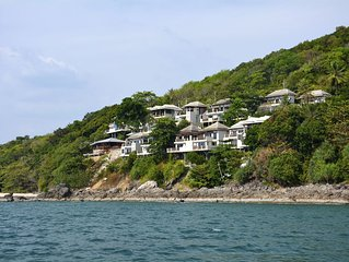 Sea View Villa no.2 Nui Beach (two AC rooms, kitchenette,large terrace, 5+1 pax)