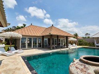 Beachfront Villa 4 Bedroom with Private Pool  Sunrise