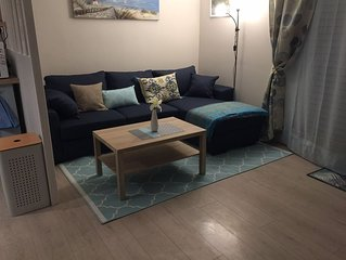 Furnished one bedroom apartment recently totally renovated in town center.