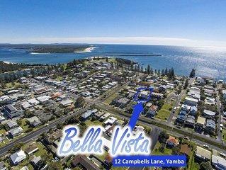 Bella Vista on Yamba Hill, 300m to Main Beach surf & rock pool