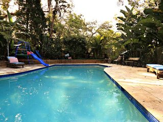 Tropical Oasis with Large Pool