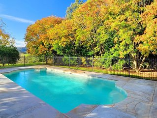 ONLY PROPERTY IN THE VILLAGE WITH A POOL AND PRIVATE RIVER FRONTAGE