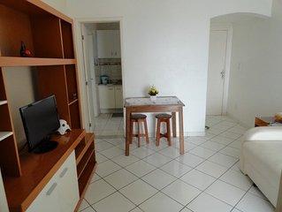 Reserve p/o feriadão! Até 7 pessoas! Perto,praia Porto da Barra!Wifi,Tv cabo,Ar.