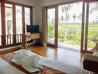 Tranquil breezy rice field villa w/private pool
