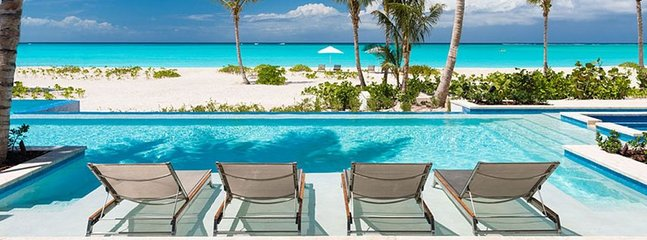 Villa Hawksbill  -  Beach Front - Located in  Magnificent Grace Bay with Private