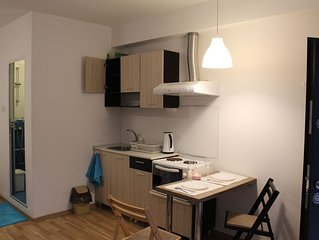 air-conditioned apartment, 800 m from NDK, free WiFi, kitchenette