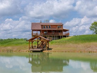 Gorgeous 4 bedroom lodge with stunning views and private pond with dock