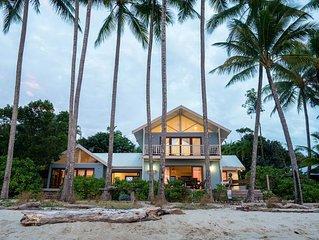 Frangipani Beach House - Absolute Beachfront/ Heated Pool