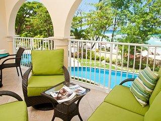 Family-Friendly Dover Beach Barbados Condo With Vibrant Aqua Sea Views