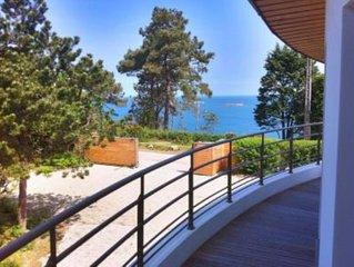 Villa d'architecte - 6 à 8 ch - Pointe de Pen al Lann - 14 à 18 personnes