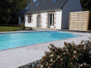 Maison avec piscine chauffee, spa et sauna, grand jardin