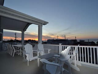 New 2019 Holgate (Beach Haven Inlet) 6 BRs Extensive Decks Sweeping Water View