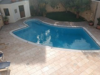 Centrally located, fully AC, Modern, Detached Property with Pool
