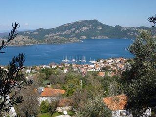 Selimiye Villa, Aegean Sea-views, Full AirCon, Private Pool, Daily Cleaning