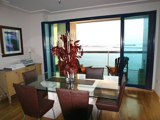 Stunning 3 bedroom waterfront luxury flat with amazing views to Africa & Spain