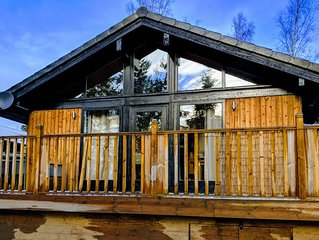 Boutique, 3 bedroom lodge in the heart of Northumberland with private hot tub