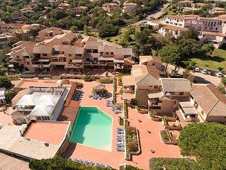 Apt. Cervo Marina 2B with condominium Swimming Pool