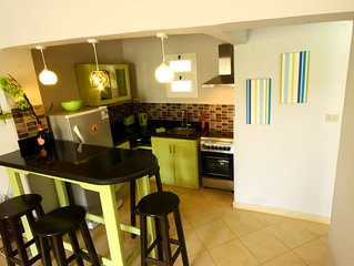 Zesty Apartment, sleeps 4 with complimentary wifi, satellite TV plus BBQ area