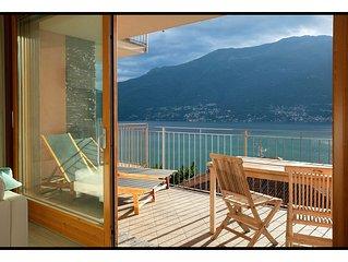 Fantastisch appartement met een wondermooi panoramisch zicht op het Comomeer